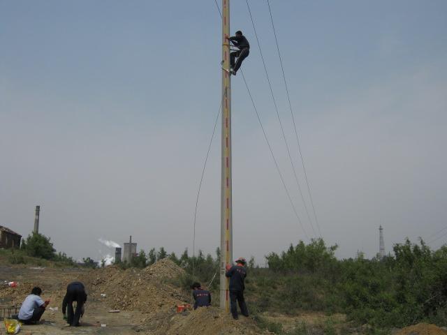 高压线杆接地改造